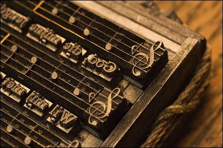 Typesetting music