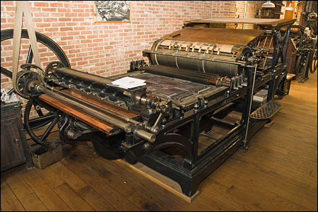 The largest press in the collection, a Marinoni 'Presse universelle'