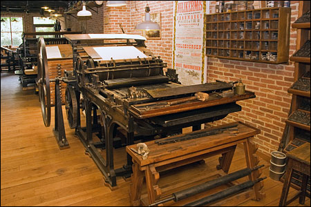 An Alauzet & Tiquet cilinder press
