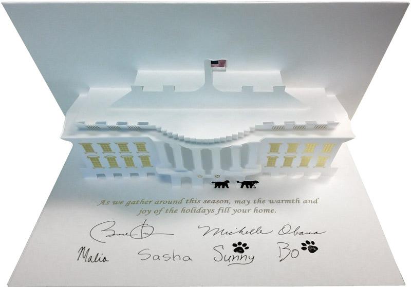 President Obama Christmas card 2013