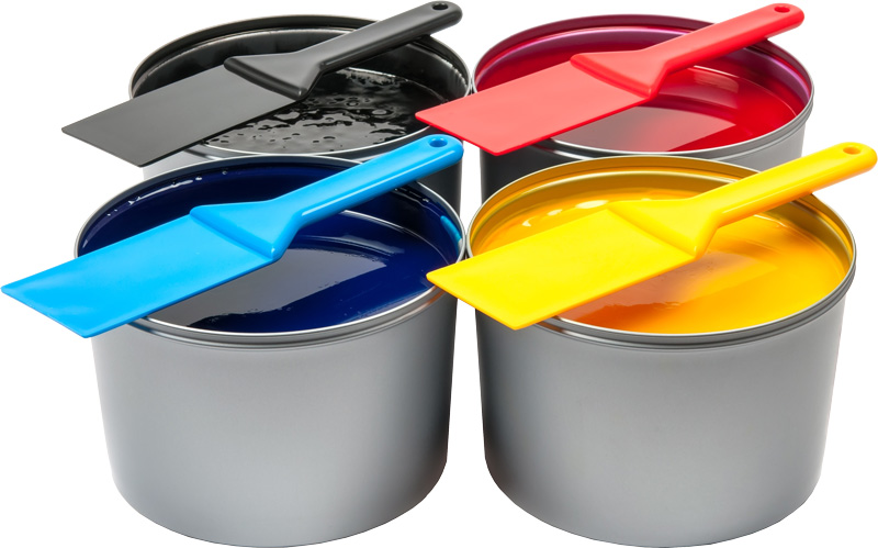 CMYK offset lithography printing inks