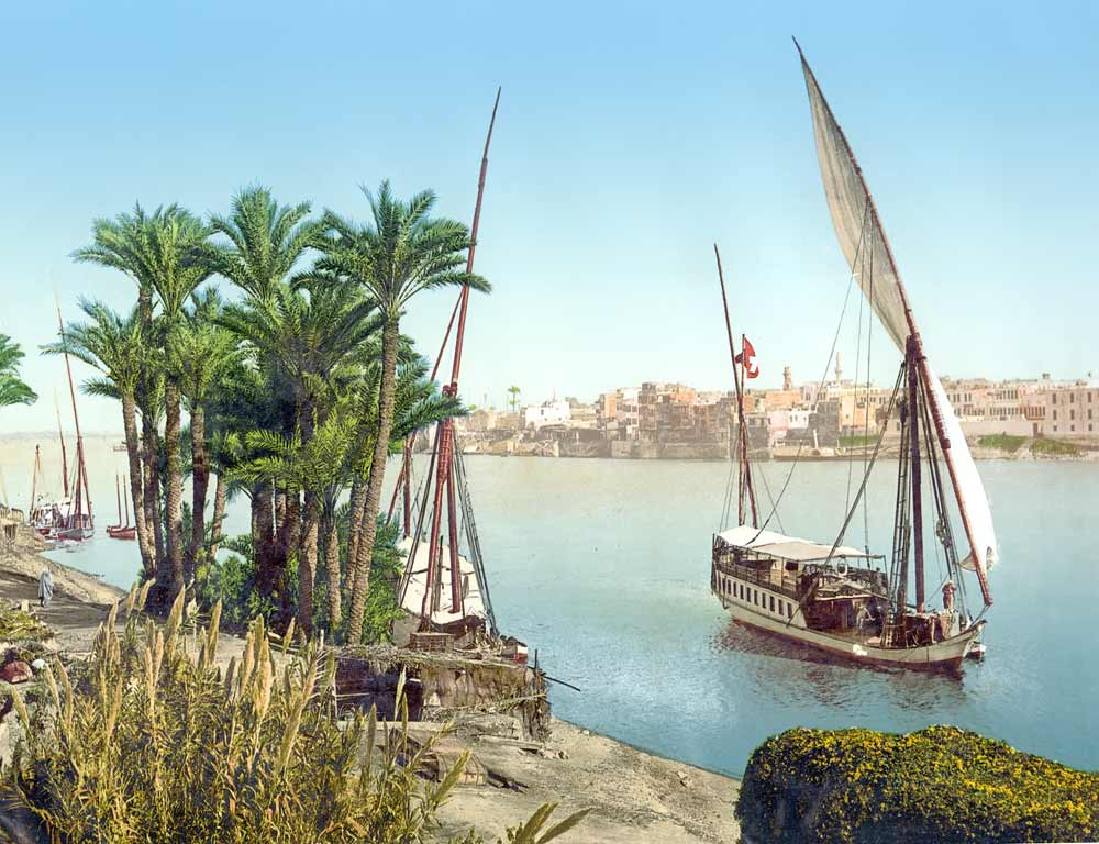 postcard of Nile at Cairo, Egypt