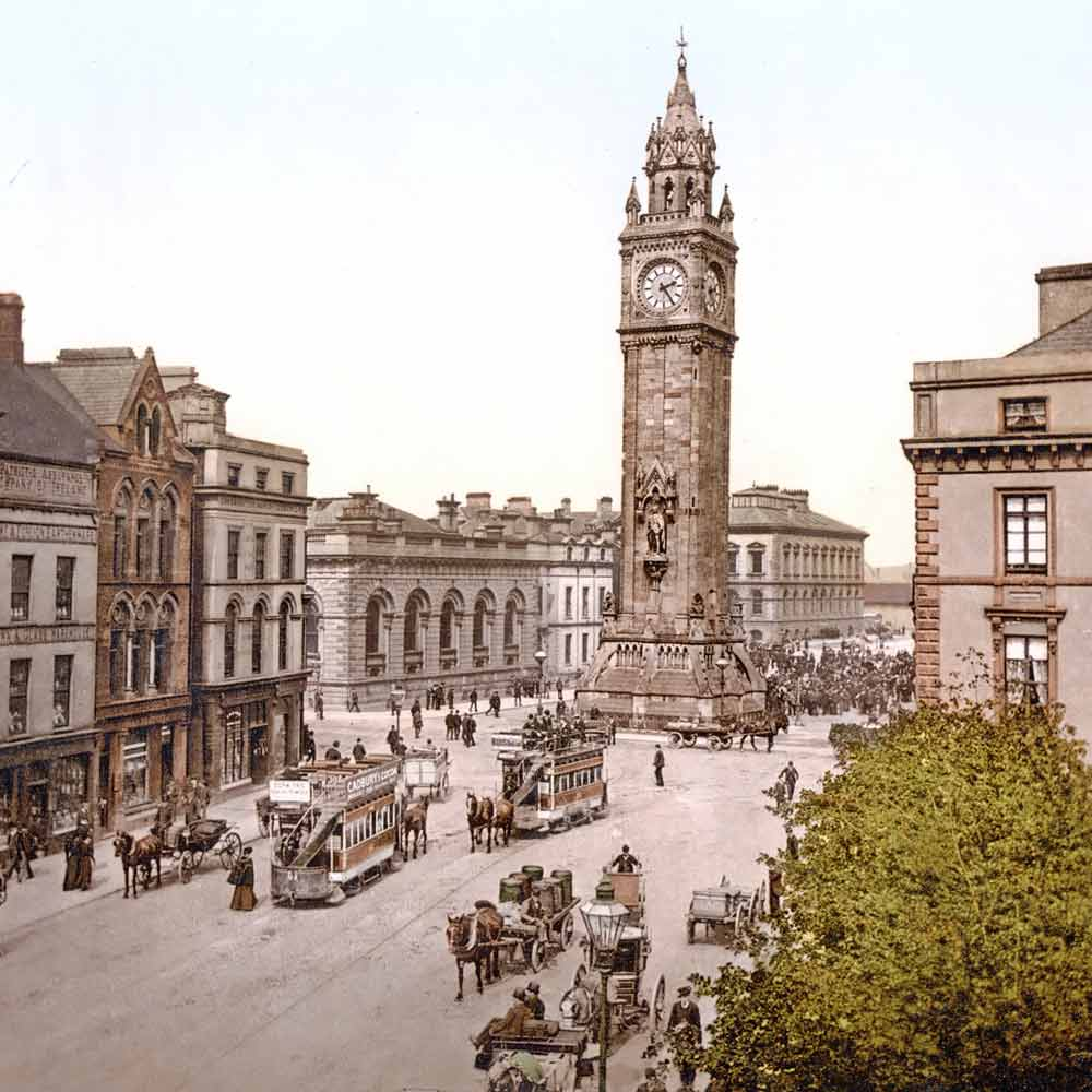 ols postcard of belfast albert memorial
