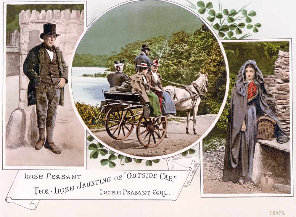 old postcard of Ireland