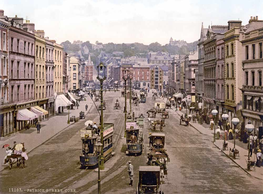 historic photograph of saint Patrick street in Cork