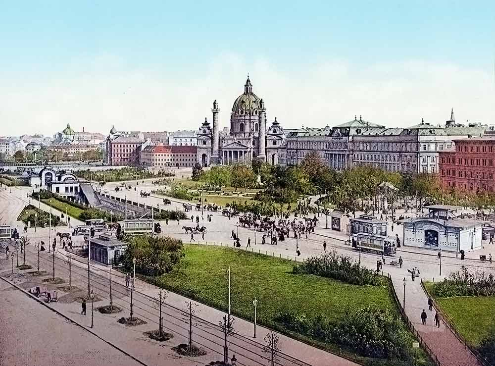 photochrome print of Vienna