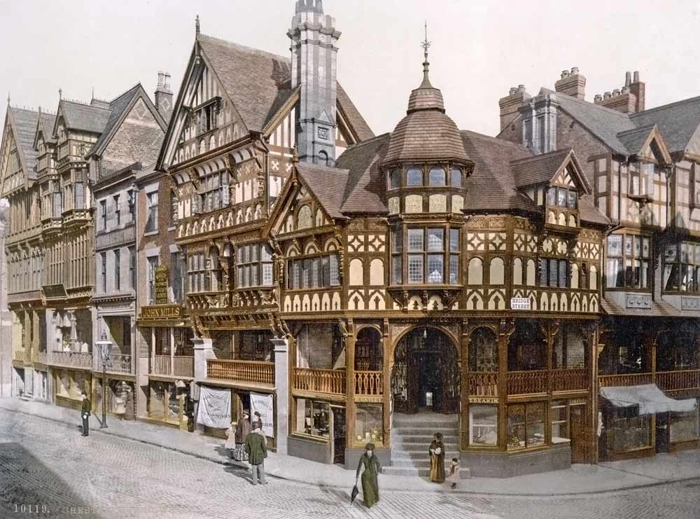 Old postcard of Chester