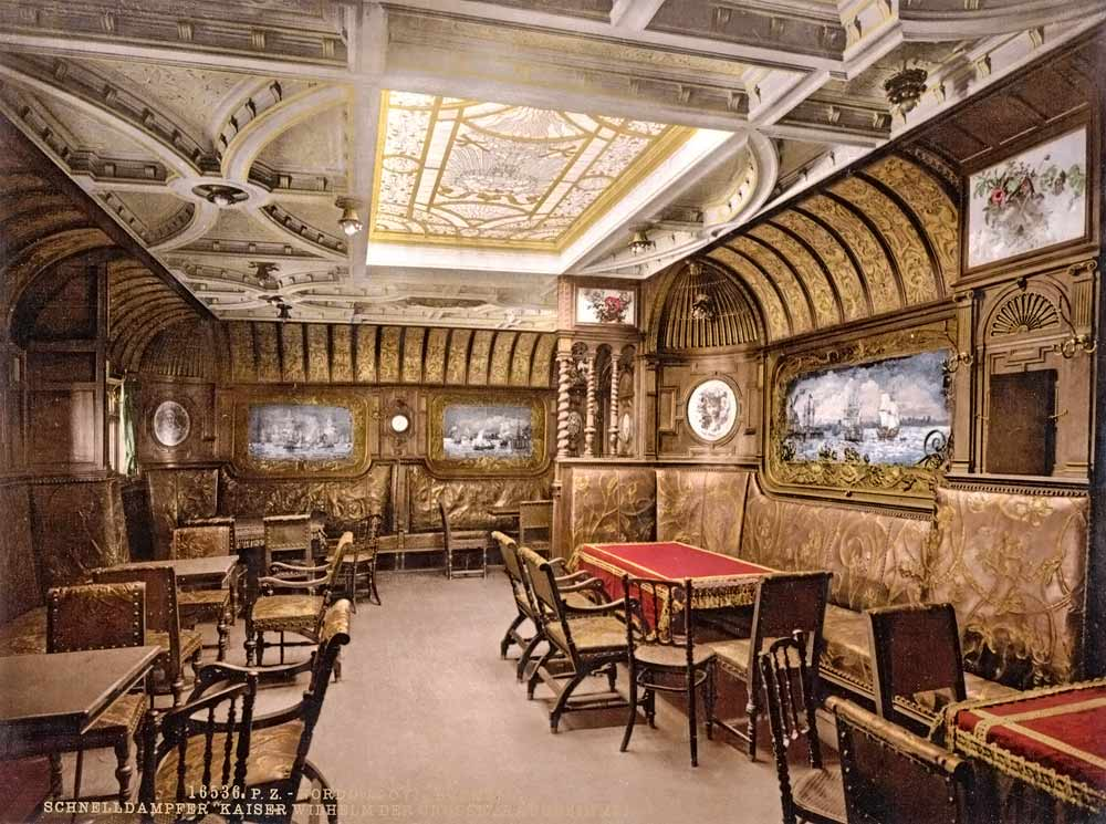 Interior of a luxurious passenger ship