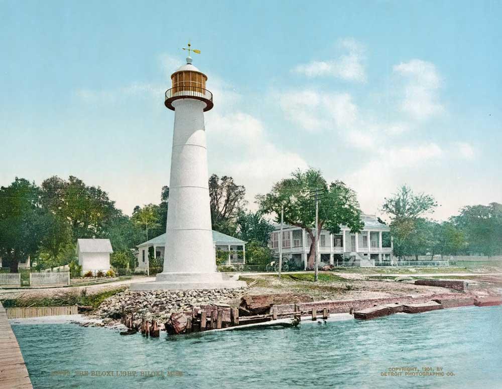 Photochrom of the Biloxi lighthouse