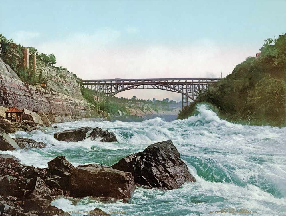vintage postcard of the Whirlpool Rapids