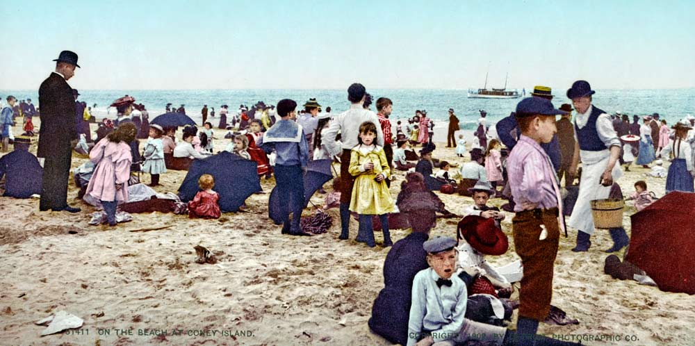 historic photo of Coney Island