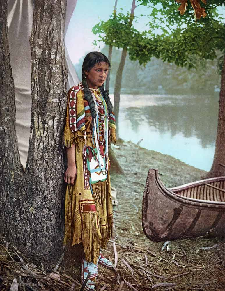 historic photo of indian girl
