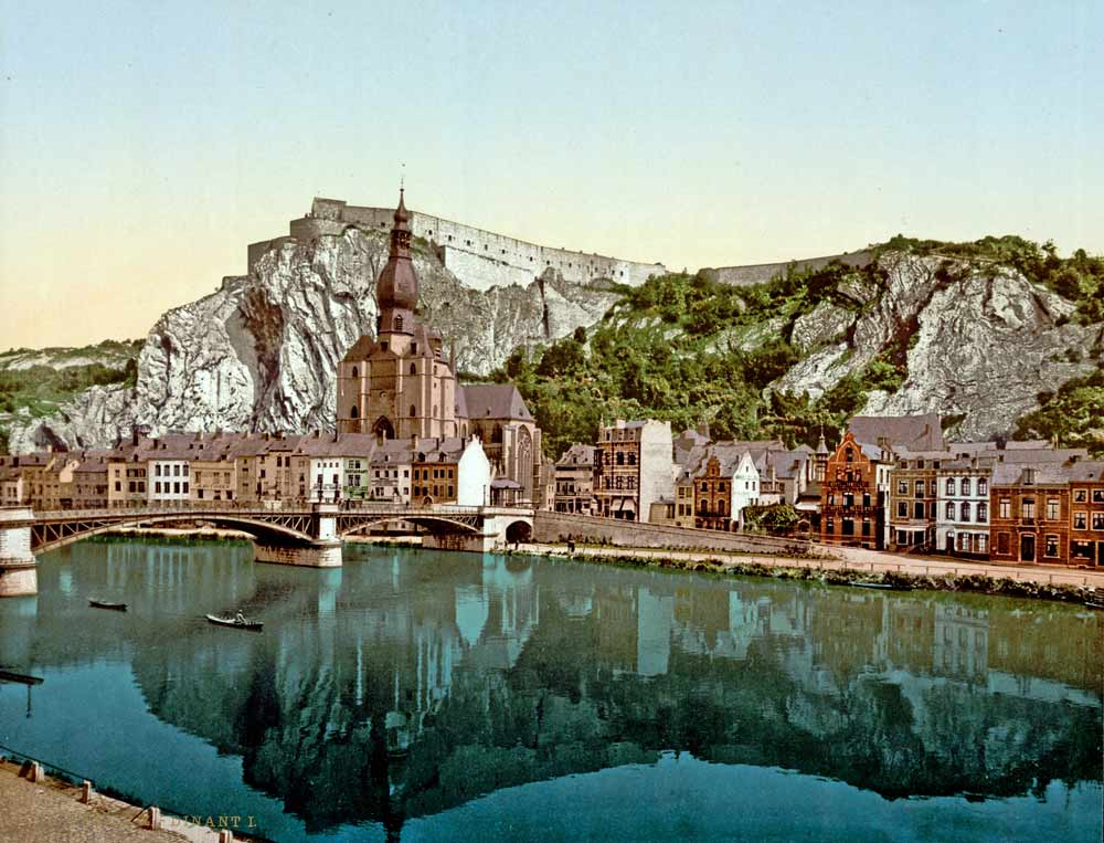 Old postcard of Dinant