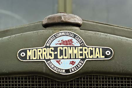 Logo on the nose of a military vehicle