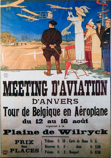 Poster in the Stampe-Vertonge museum in Deurne, Belgium
