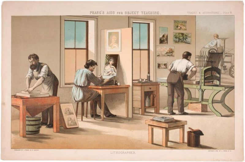 litho print of a printing company by Prang and Mayer
