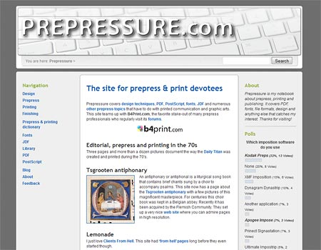 The home page before the upgrade
