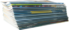 Magazines and newspapers are tangible products with an often loyal following