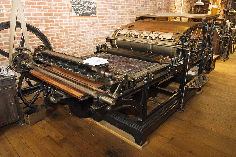historical Marinoni 'Presse universelle' printing press