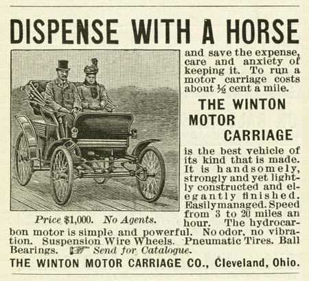 The first car ad ever published