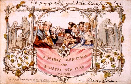 The oldest mass-produced Christmas card