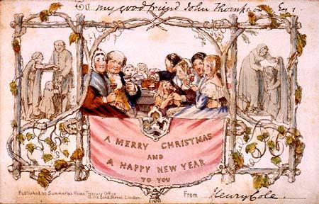 The oldest mass-produced Christmas card