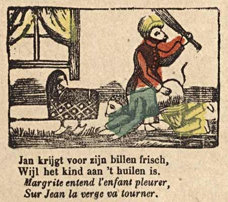 A 19th century penny print of Jan De Wasscher