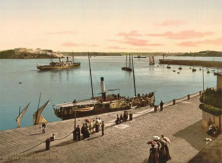 Historic photo of the harbor of Saint Malo in France