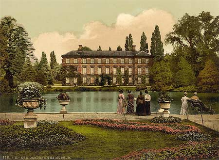 Historical photograph of the museum in Kew gardens, England