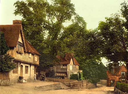 On old postcard from around 1895 of Penshurst Place in Tunbridge Wells