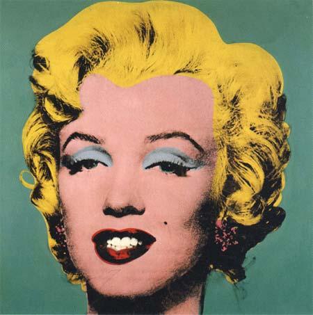 Warhol screen print using acryl and linen