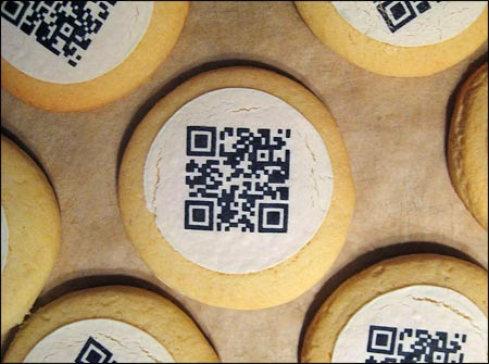 QR codes on cookies = Qkies