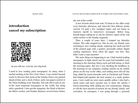 A QRcode points to a web site containing more information