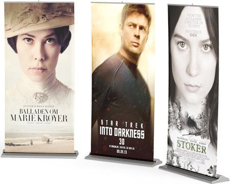 examples of a roll-up banner