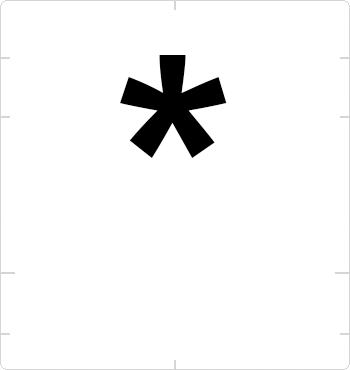 asterisk sign