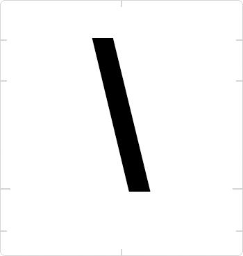 backslash sign