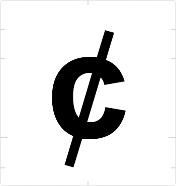 cent sign
