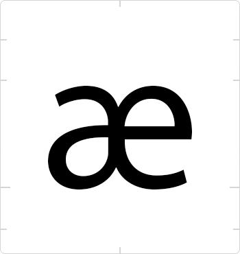 lowercase ae ligature