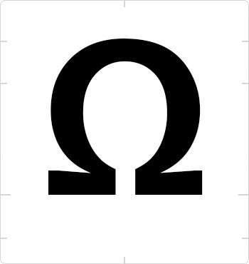 ohm sign