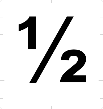 fraction one half