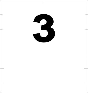 superscript three