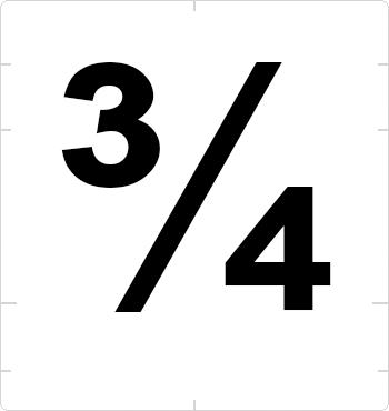 three quarters fraction