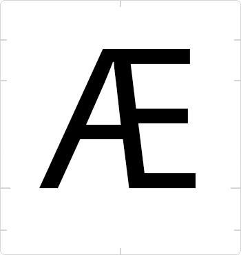uppercase ae ligature