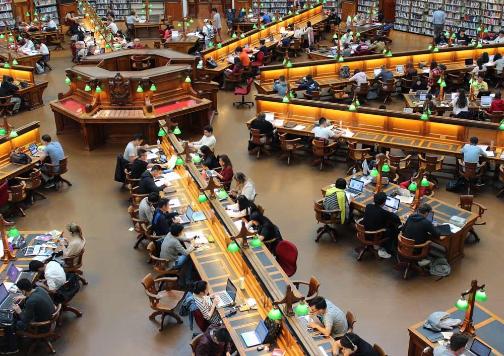 La Trobe reading room in the State Library of Victoria, Melbourne