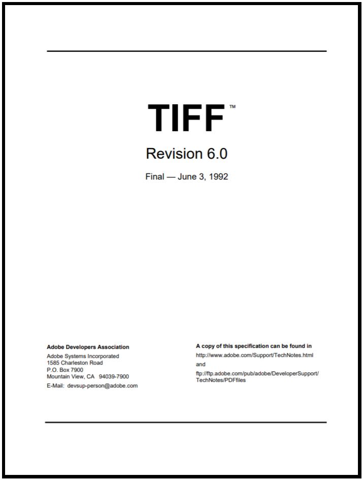 TIFF 6 specs