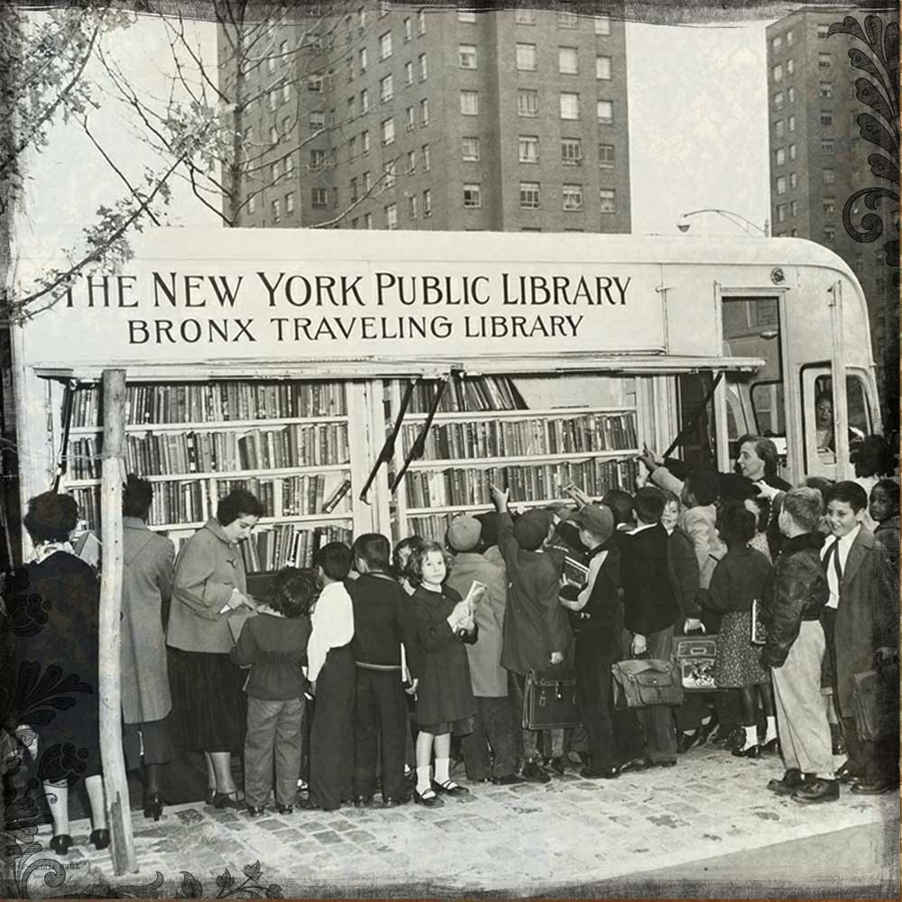 travelling library in the Bronx, NYC