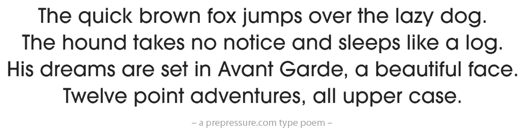 The Avant Garde font | 30 typefaces - their look, history