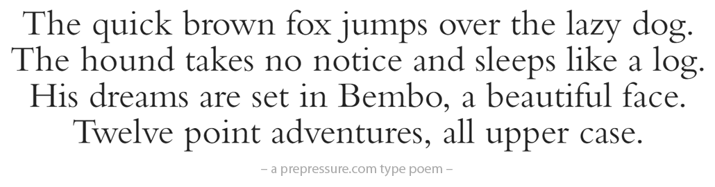 Bembo typeface example