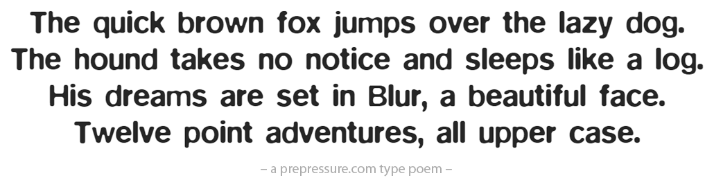 Blur typeface example