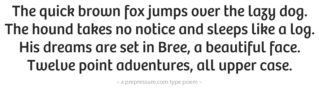 Bree typeface sample